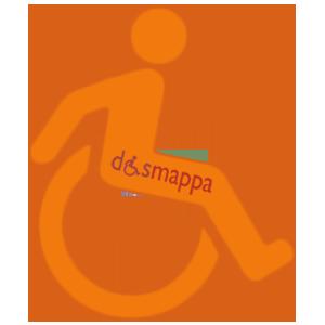 05 logo handicap disabili arancio dismappa